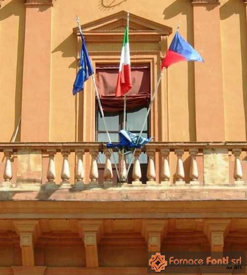 Facciata del municipio di Copparo - FE -