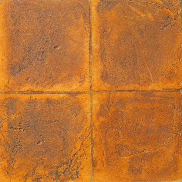 Tavella quadra gialla anticata