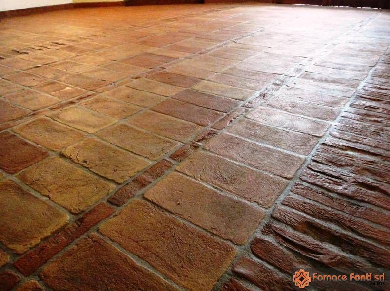 Super Pavimento rustico in tavella gialla e rossa DL44