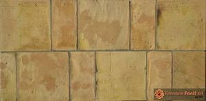 tavella quadra e rettangolare gialla lavata